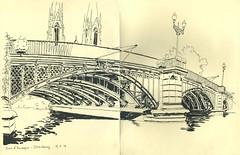 Pont d'Auvergne - Strasbourg (lolo wagner) Tags: croquis sketch usk urbansketchers dessin pont strasbourg alsace