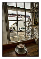 Flat-white with a Turbostar, please..... (david.hayes77) Tags: rankinscafe northqueensferry scotland coffee flatwhite drink forthbridge 2019 class170 turbostar fife villagelife