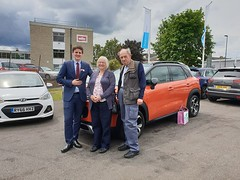 Mr and Mrs Love always drive brightly coloured cars and have bought themselves this delivery mileage C3 Aircross in Spicy Orange! (Charters Citroen) Tags: citroen aldershot hampshire fleet surrey