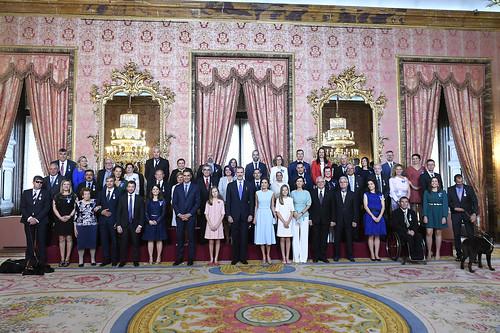 Condecoraciones de la Orden del Mérito Civil en el quinto aniversario de la proclamación del rey Felipe VI (19/06/2019)