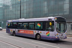 Go North West MX55FFO (Mike McNiven) Tags: goaheadgroup goahead gonorthwest northwest pride heart rainbow pridemonth lgbt loveislove manchester shudehill corporationstreet wright eclipse volvo