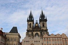 Praga (albavv46) Tags: church art praga prague city landscape blue clouds travel trip town architecture arquitectura canon canonphotography contrast camera amateur azul travelling europe iglesia outside photography places day