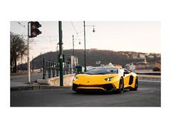 SV. (H5D) Tags: lamborghini aventador sv roadster nikon 50mm budapest yellow