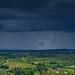 Dark Clouds over Tuscan Landscape