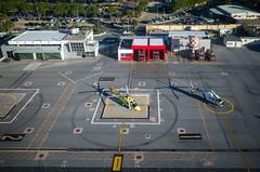 Helipuerto de Ceuta (jlben Juan Leon) Tags: ricoh ricohgr ricohgrii helicopter helicoptero heliport ceuta helipuerto