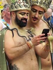 pride sitges 2019 (gerben more) Tags: sitges gay gaypride spain beard people portrait portret cellphone