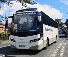 """Landmark Coaches """"Miss Penelope"""" is on Kite Hill in Wootton. - BJ14 KTG - 17th June 2019 (Aaron Rhys Knight) Tags: landmarkcoaches misspenelope bj14ktg 2019 kitehill wootton isleofwight volvob11rjonckheere"""