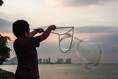 Bubble maker (Out Of The Map) Tags: malaysia penang solo travel explore outofthemap enjoy play kids malay