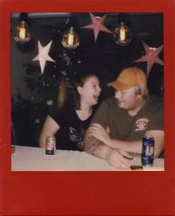 Starscream (Magnus Bergström) Tags: polaroid polaroid680slr polaroidoriginals polaroidslr680 instant film instantfilm red metallic redmetallic 600 sweden värmland wermland portrait christmas xmas lysvik sunne