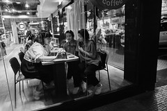 Study time (Darkotic9) Tags: 28mm leica leicaq wideangle street streetphotography fullframe compact compactcamera fullframecompact asia bangkok thailand thai seasia fixedlense people digital bw blackandwhite monochrome travel night wideopen