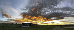 Sunrise brings a Smile (northern_nights) Tags: sunrise firesky pano panorama cheyenne wyoming rural skyscape cloudscape sky clouds goldenhour