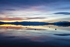 Colourful Sunrise (CraDorPhoto) Tags: canon5dsr landscape water lake reflection sky clouds calm nature outside outdoors laketahoe usa california
