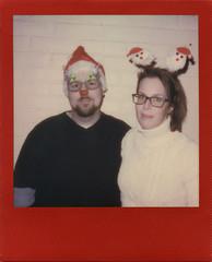 Costume Made (Magnus Bergström) Tags: polaroid polaroid680slr polaroidoriginals polaroidslr680 instant film instantfilm red metallic redmetallic 600 sweden värmland wermland portrait deje forshaga christmas xmas