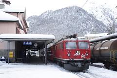 20101130 019 Pontresina. 605 Train 1940, 12.02 To Scuol-Tarasp (15038) Tags: railways trains switzerland rhaetianrailway rhätischebahn ferroviaretica viafierretica rhb ge44i electric locomotive pontresina 605