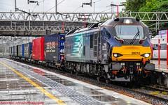 88010 @ Stafford (A J transport) Tags: class88 diesel eletric 88010 compasslogo drs freight intermodal railway aurora trains wcml england