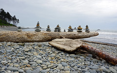 Ruby Beach, Olympic National Park, WA (SomePhotosTakenByMe) Tags: beach nature strand natur rubybeach cairn steinmännchen ocean park sea usa america washington nationalpark meer unitedstates pacific outdoor national olympic amerika olympicnationalpark pazifik stone stein