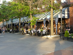 Saturday was a beautiful evening and people were out enjoying it in Boston. (lovesdahlias 1) Tags: light boston evening cities newengland restaurants