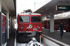 20101130 021 Scuol-Tarasp. 605 Train 1940, 12.02 Ex Pontresina (15038) Tags: railways trains switzerland rhaetianrailway rhätischebahn ferroviaretica viafierretica rhb ge44i electric locomotive scuoltarasp 605