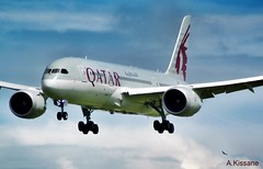 QATAR AIRWAYS B787 A7-BCY (Adrian.Kissane) Tags: ireland sky dublin plane outdoors flying aircraft aviation aeroplane landing airline boeing airliner qatar dublinairport 787 b787 dreamliner a7bcy 1662019 38443