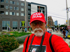 It's #Trumpland, home of #MAGA but I'll stick with my cap! (kennethkonica) Tags: streetphotography streets people candid old persons canonpowershot indianapolis indiana indy usa midwest america hoosier outdoor faces random global autumn