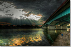 Bridge over the Odra river (Wojttek) Tags: szczecin odra poland