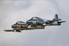 0839 Strikemaster pair (photozone72) Tags: strikemaster strikedisplay dunsfold dunsfoldpark wingswheels classicjet aviation aircraft airshows airshow canon canon7dmk2 canon100400f4556lii 7dmk2
