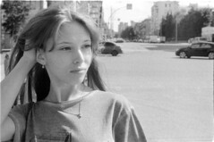Kseniya (Dmitriy Protasov) Tags: filmphotography analoguephotography 35mm blackandwhite blackandwhitephotography analogphotography streetphoto streetphotogtaphy shotonfilm ilford