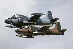 0840 Strikemaster pair (photozone72) Tags: strikemaster strikedisplay dunsfold dunsfoldpark wingswheels classicjet aviation aircraft airshows airshow canon canon7dmk2 canon100400f4556lii 7dmk2