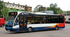 Stagecoach Fife 25265 SF13FMZ leaves Glenrothes Bus Station with a Kirkcaldy service. (Gobbiner) Tags: versav1110 eastscotland 25265 stagecoachfife optare sf13fmz bluebirdbuses aberdeenairport 727jet edinburghairport 747jet glenrothes