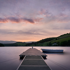 Sunset colors by the Ladybower reservoir, Peak District, UK (Marcin Frączek) Tags: sky water lake cloud loch reservoir morning evening horizon sunset dusk reflection river calm dock lakedistrict sea afterglow waterway uk landscape dawn sunlight sunrise pier hill sound bank boat coast gb england peakdistrict