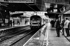 90016 @ Stafford (A J transport) Tags: class90 eletric 90016 freight intermodal railway trains england wcml