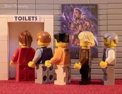 Avengers Endgame (Bond Photography Creations) Tags: lego minifig minifigure film avengers marvel endgame toilet humour fun