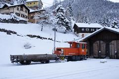 20101130 003 Bergün. 116 (15038) Tags: railways trains switzerland rhaetianrailway rhätischebahn ferroviaretica viafierretica rhb tm22 diesel locomotive shunter bergün 116