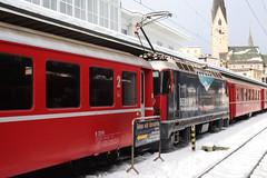 20101130 025 Davos Platz. 619 Train RE1048, 15.02 To Landquart (15038) Tags: railways trains switzerland rhaetianrailway rhätischebahn ferroviaretica viafierretica rhb ge44ii electric locomotive davosplatz 619