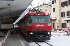20101130 009 Samedan. 646 Train RE1132, 10.02 St Moritz - Chur (15038) Tags: railways trains switzerland rhaetianrailway rhätischebahn ferroviaretica viafierretica rhb ge44iii electric locomotive samedan 646