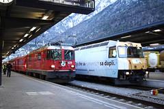 20101130 026 Chur. 629 With RE1248, 14.40 Scuol-Tarasp - Disentis_Mustér Alongside 644 (15038) Tags: chur railways trains switzerland rhaetianrailway rhätischebahn ferroviaretica viafierretica rhb ge44ii electric locomotive ge44iii 629 644