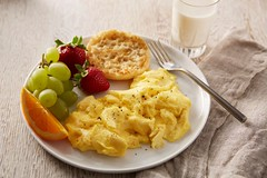 Scrambled eggs for breakfast (Norco Ranch) Tags: norco ranch scrambled eggs breakfast