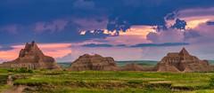 Badlands Sunset (Clint Everett) Tags: sunset nature summer landscape rocks badlands sky southdakota nationalpark clouds
