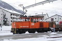 20101130 010 Samedan. 215 (15038) Tags: railways trains switzerland rhaetianrailway rhätischebahn ferroviaretica viafierretica rhb ge33 electric locomotive samedan 215