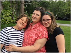 Jonah, Donna & Ariella | Parting Shot (steveartist) Tags: family grandmothers children teens boys girls grandkids grass road trees smiles iphonese photograph