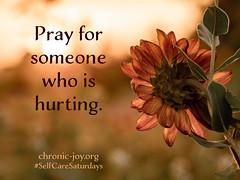 CJPrayForSomeone (Chronic Joy Ministry) Tags: selfcaresaturday selfcare 52selfcaresaturdays chronicjoy pray prayer community bethebody