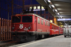 20101130 029 Chur. 608 Train RE1250, 17.22 To Ilanz (15038) Tags: chur 608 railways trains switzerland rhaetianrailway rhätischebahn ferroviaretica viafierretica rhb ge44i electric locomotive