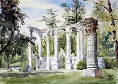 The Guild Park, Plein Air, 2019-06-19 (light and shadow by pen) Tags: watercolor landscape theguildpark art pleinair