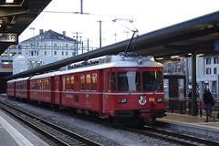 20101130 028 Chur. 515 And 1716 Train 1565, 16.48 To Thusis (15038) Tags: chur railways trains switzerland rhaetianrailway rhätischebahn ferroviaretica viafierretica rhb be44 electric 515