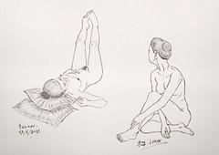 Jeune femme, dessin de nu, avec modèle vivant avec Procréate (guylurde) Tags: applepencil pencil crayon procreate ipadpro ipad modèlevivant croquis sketch dessin nude nue girl fille