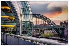 The New and The Old (stblackburn) Tags: newcastle northeast quayside sage sunset city gateshead tyne bridge