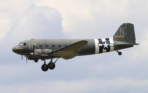 N74589 C-47 'Plasid Lassie' Duxford 3.6.19