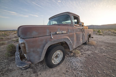 Ford F100 (magnetic_red) Tags: ford f100 truck old rusted rusty patina desert weeds junk junkyard nevada abandoned