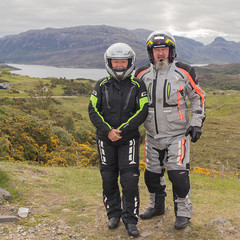 Suited and Booted (Mary&Neil) Tags: elements scotland motorcycle biking
