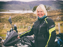 Mary at Loch Eriboll (Mary&Neil) Tags: elements scotland motorcycle biking